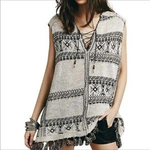 Free People festival blanket tunic size S